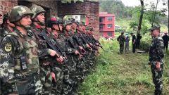 湖南邵阳:武警官兵完成搜捕洞口杀人案嫌犯任务