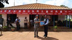 """我赴刚果(金)维和工兵同驻地SOS儿童村共庆""""六一""""国际儿童节"""