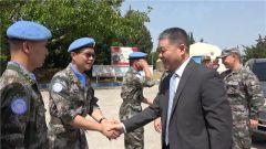 中国驻黎巴嫩大使慰问第18批赴黎维和部队官兵