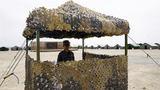 駐地營區里的哨位。