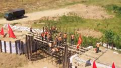 淮河流域 千余名官兵开展防汛救灾演练