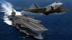 """美新航母无法起飞F-35战机 或影响美军""""海上霸主""""地位"""