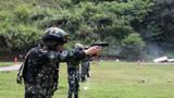 特戰隊員正在進行手槍快速精度射擊