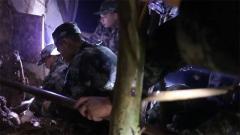 廣東五華突發山體崩塌 武警官兵雨夜救援
