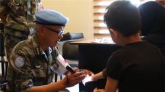 黎巴嫩:我维和官兵巡诊当地偏远村落
