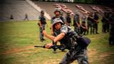 在手雷投掷科目中,参赛官兵成绩喜人。
