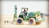 物資收發分隊開展叉車實操訓練。