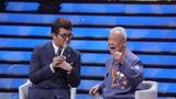 """圖為軍歌傳唱者,""""9·3""""勝利日閱兵時抗戰老兵方隊的一員,93歲的李劍鋒老前輩再唱戰斗歲月中的嘹亮軍歌。"""