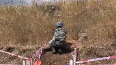 黎巴嫩:中国维和工兵清排黎以边境雷场