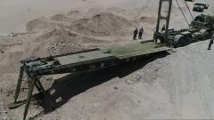 西藏军区某工化旅开展道路保通综合演练