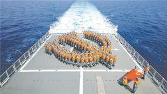 海軍第31、32批護航編隊組織形式多樣的活動慶祝黨的生日