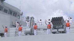 海军第31批护航编队圆满完成护航任务返回湛江某军港