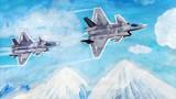 作品《飞越雪山》