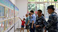 """东部战区空军某基地举办""""蓝天娃""""庆八一书画展"""