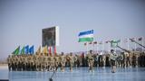 乌兹别克斯坦参赛队入场