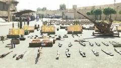 关注叙利亚局势 叙军展示缴获的大批武器弹药