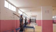 黎巴嫩:中國第十八批維和建筑工兵分隊援建當地希望學校