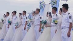 南部戰區海軍航空兵:永興島舉辦集體婚禮