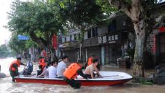 武警丽水支队官兵驰援台州临海 转移受困群众