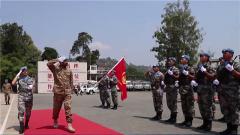 联合国驻刚果(金)稳定特派团南部战区司令视察中国赴刚果(金)维和工兵分队
