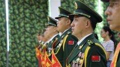 武警贺州支队举行2019年度转业干部退役仪式