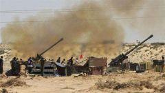 """利比亚政府军与""""国民军""""在盖尔扬地区激战"""