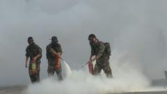火箭军某基地组织应急处置演练 实现动态联动