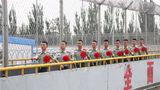 8月29日,武警宁夏总队石嘴山支队组织退伍士兵进行军旅告别仪式。