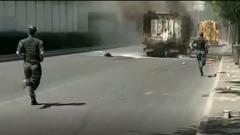 北京车辆突发自燃 退伍军人紧急扑救
