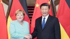 【视频】习近平会见德国总理默克尔