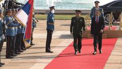 塞尔维亚总统武契奇会见张又侠