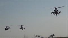 探秘空中突击部队:四型直升机相继升空 步兵登机蓄势待发