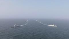 海军两护航编队举行分航仪式,第三十三批护航编队首次伴随护航