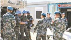 中国维和官兵参加联黎部队医疗救援演习