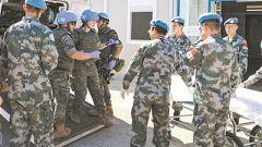 我维和官兵参加联黎部队医疗救援演习