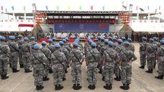 """中国第五批赴南苏丹维和官兵被授予联合国""""和平荣誉勋章"""""""