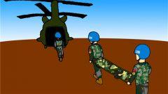 维和漫画:空运后送小组前出梅纳卡执行医疗保障任务