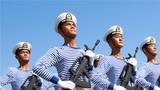 阅兵式训练。