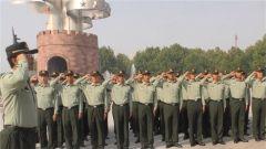 陆军第81集团军某合成旅组织官兵参观平津战役纪念馆