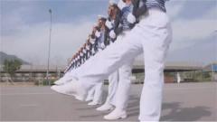 【直击2019阅兵训练场】海军方队:阅兵训练场掀起浪花白