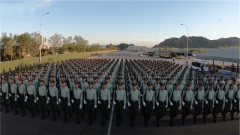 【直击2019阅兵训练场 】走进武警部队方队