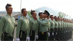 【直击2019阅兵训练场 】橄榄绿 用数字追求完美的武警部队方队