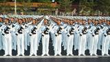 10月1日上午,庆祝中华人民共和国成立70周年大会在北京天安门广场隆重举行。这是受阅部队在演练。