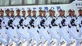 10月1日上午,庆祝中华人民共和国成立70周年大会在北京天安门广场隆重举行。这是受阅部队在演练。 新华社记者 李晓果 摄