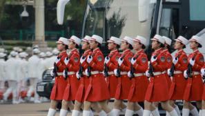 【直擊2019閱兵現場】女民兵方隊亮相