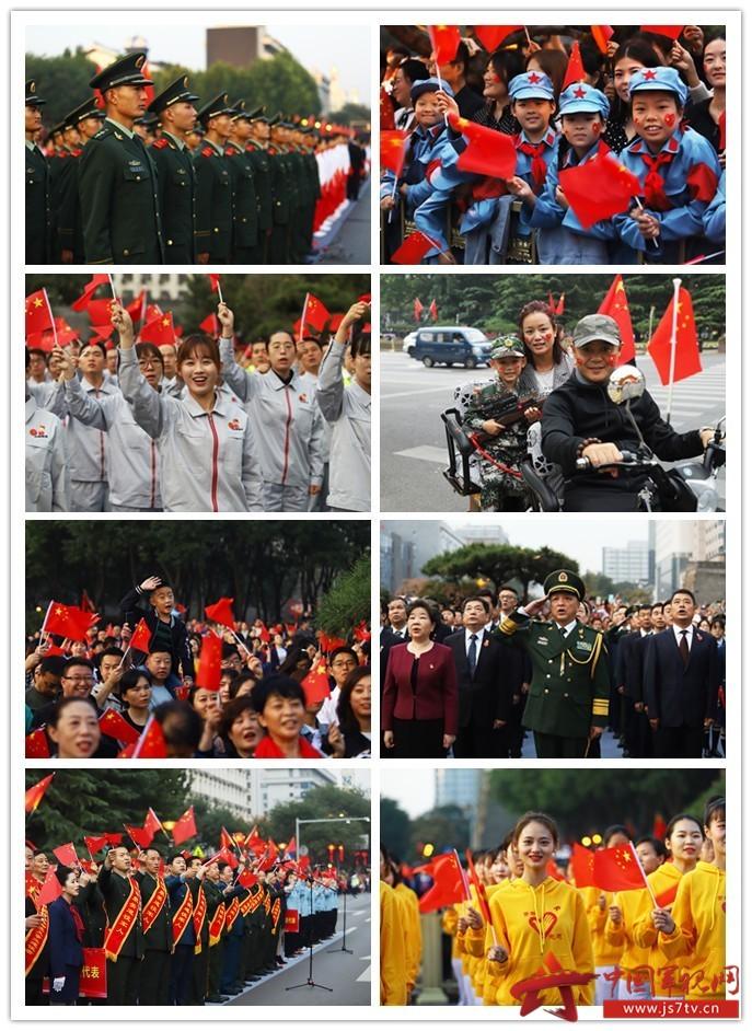 002-西安市上万名市民手持国旗,不约而同来到新城广场,观看具有特殊意义的升旗仪式。