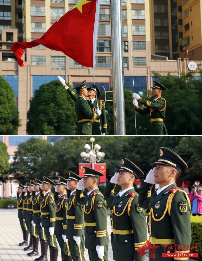 005-广西河池:今天,武警礼兵成为升旗现场最靓的风景