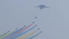 空軍空中梯隊亮相閱兵式 《我和我的祖國》再現經典瞬間