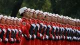 2019年10月1日上午,慶祝中華人民共和國成立70周年大會在北京天安門廣場隆重舉行。這是民兵方隊。徐曉羽攝