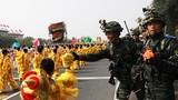 2019年10月1日上午,庆祝中华人民共和国成立70周年大会在北京天安门广场隆重举行,现场气氛热烈。徐晓羽摄